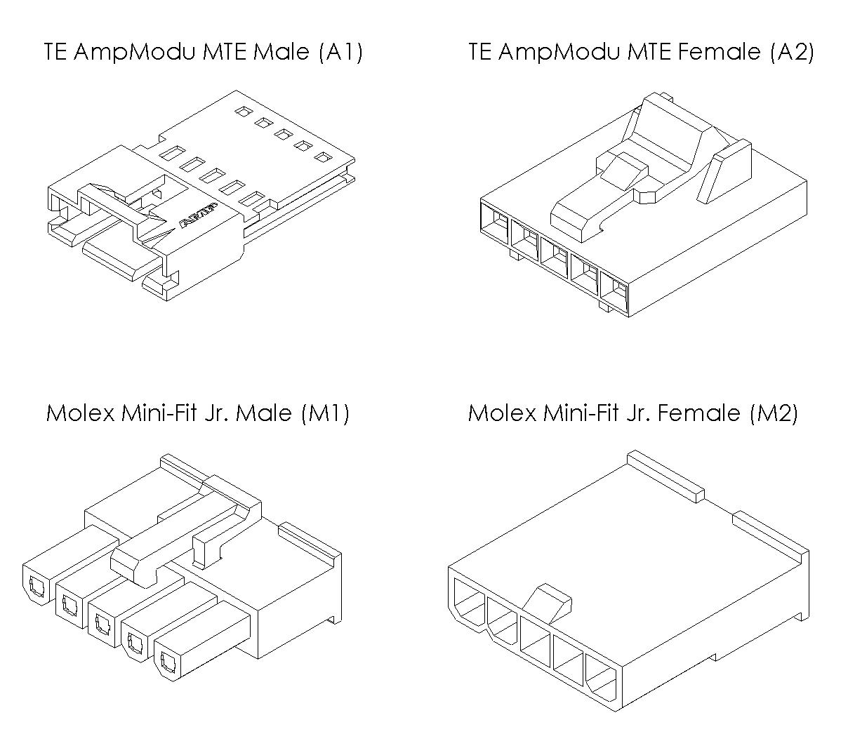 T8 Five Pin Connectors